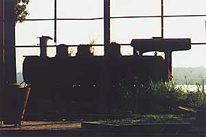 Engine sheds at Porto Vehlo